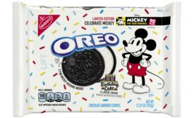 OREO Birthday Cake flavored cookies with Mickey Mouse