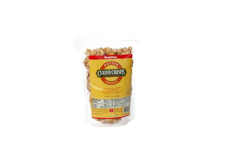Beatrice Foods Co. Classy Crisps butter popcorn