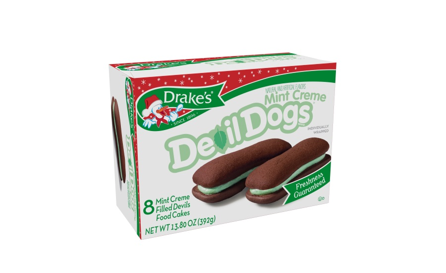 Drakes Christmas Mint Creme Devil Dogs