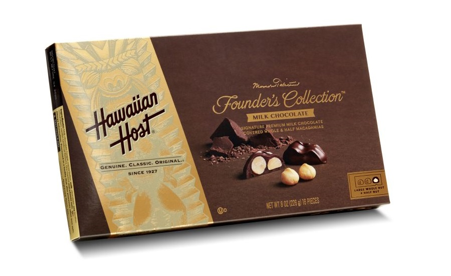 Hawaiian Host Founders Collection milk chocolate covered macadamia nuts