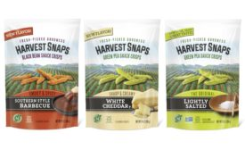 Harvest Snaps new flavors and packaging, pea protein