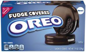 Fudge-covered OREO cookies