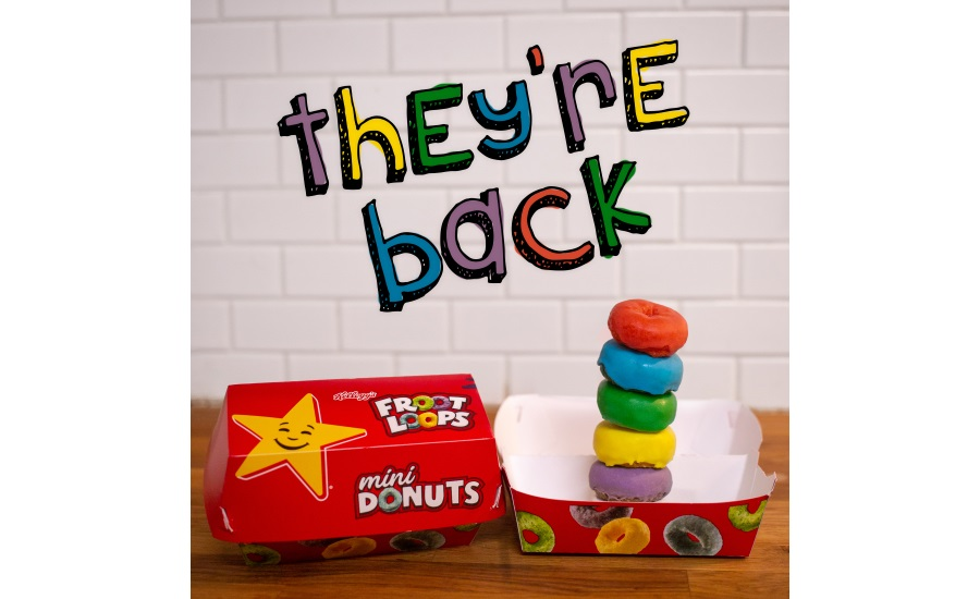 Carl Jr. and Hardees Kelloggs Froot Loops Mini Donuts