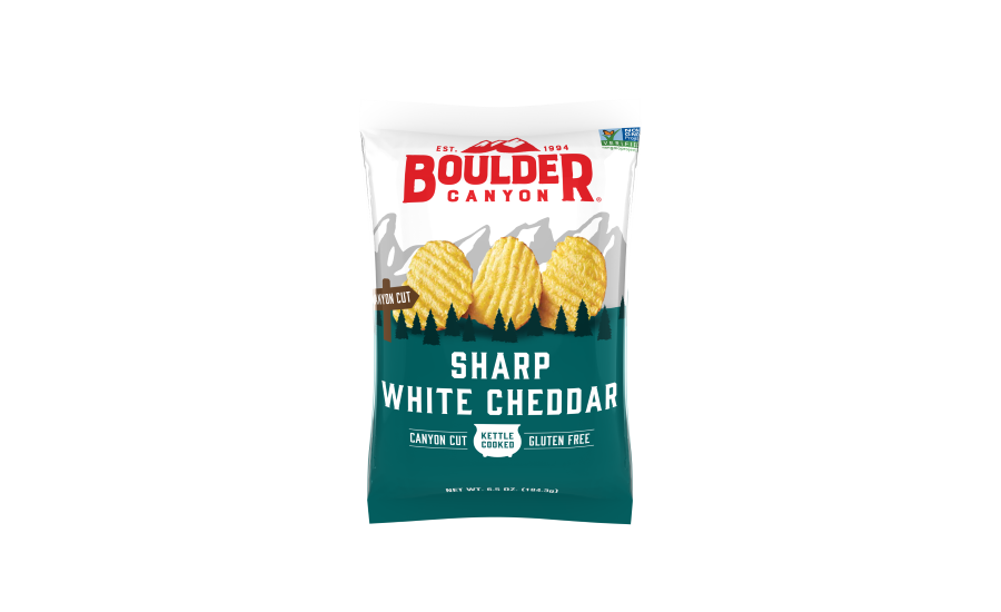 Boulder Canyon Cut Sharp White Cheddar Kettle Chips