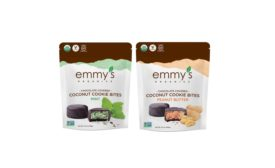 Emmys Organics chocolate covered cookie bites