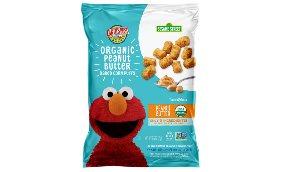 Earth's Best Organic Sesame Street Peanut Butter Puffs