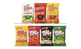 Gibbles Puffys and potato chips