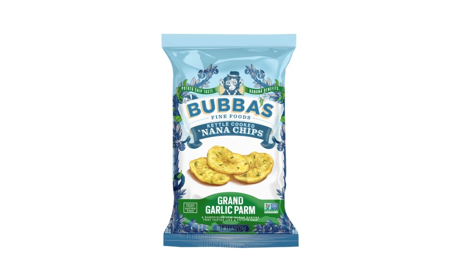 Bubbas Fine Foods garlic parmesan banana chips