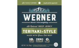 Zero Sugar and Grass-Fed Beef Pair Well in New Jerky from Werner Gourmet Meat Snacks, Inc.