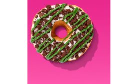 Dunkin Holiday Brownie Crumble doughnut