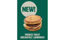 Cumberland Farms French Toast breakfast sandwich