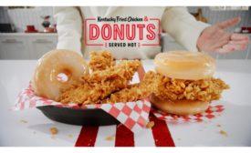 KFC chicken and doughnuts