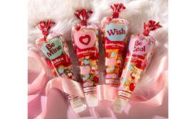 Popcornopolis Valentines hearts mini cones popcorn