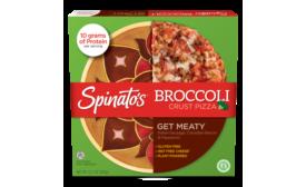 Spinatos new broccoli crust pizza