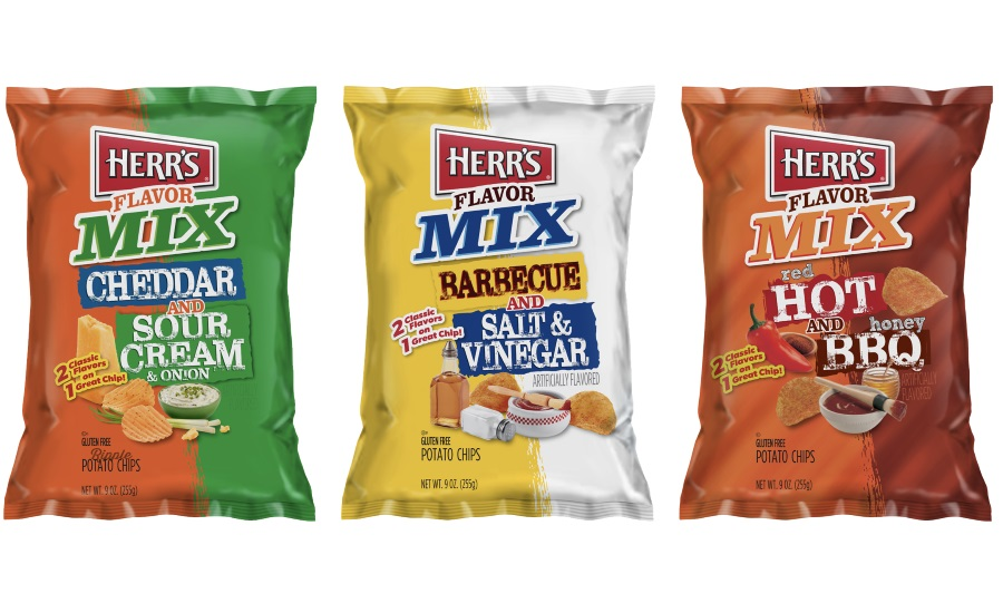Two flavors on one chip: Herrs introduces new flavor mix