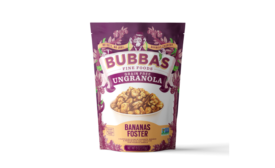 Breakfast gets decadent with new Bananas Foster UnGranola from Bubbas Fine Foods