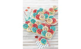 Cheryls Cookies Buttercream Frosted Red White and Blue Cut Out Cookies
