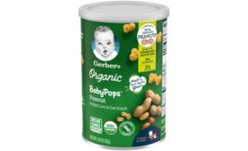 Gerber launches new organic snack line BabyPops for crawlers learning to self-feed