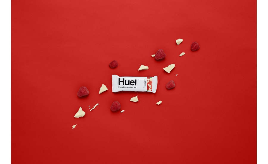 Huel launches first vegan white chocolate product with new Raspberry & White Chocolate Snack Bar