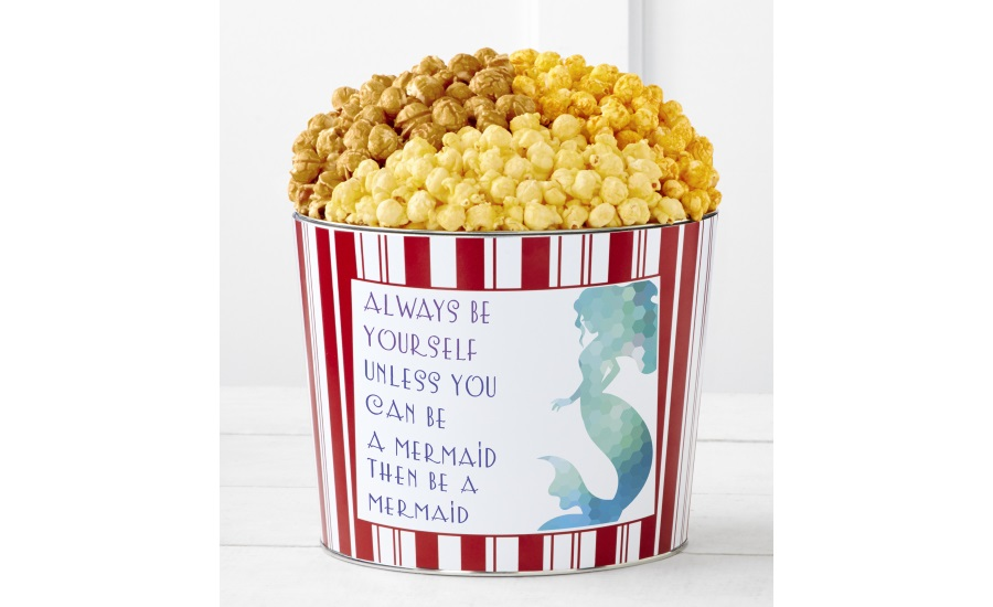 The Popcorn Factory Tins With Pop Mermaid and Cards with Pop Mermaid