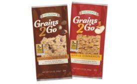 Introducing Fieldstone Bakery Grains 2 Go Bars, from McKee Foods