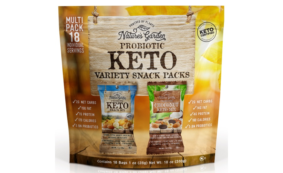Natures Garden Probiotic Keto Variety Snack Packs