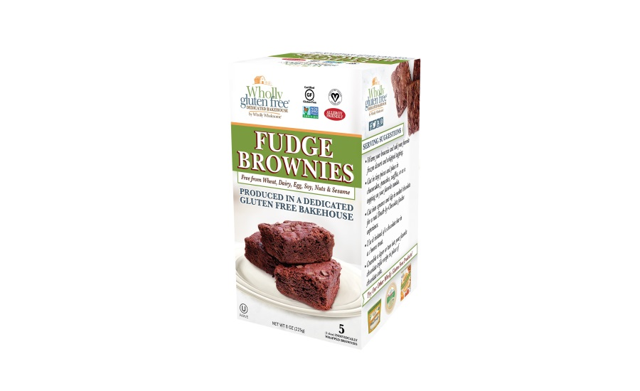 Wholly Gluten-Free Brownies, with new packaging