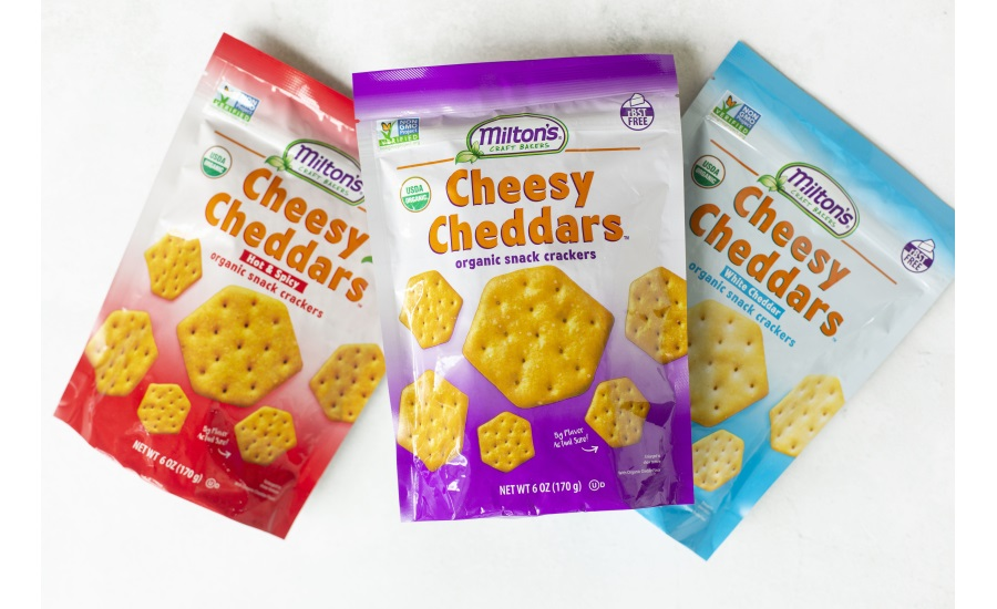 Milton's Organic Cheesy Cheddars, and Gourmet Crackers