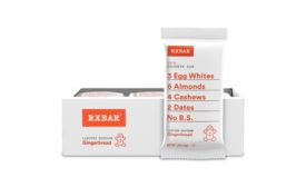 RXBAR Pecan bar, and returning favorite RXBAR Gingerbread