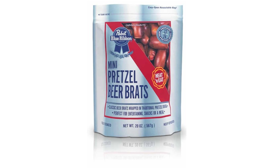 Distinctive Foods Pabst Blue Ribbon Mini Pretzel Beer Brats