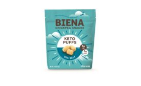 Biena Snacks launches first plant-based Keto Puff