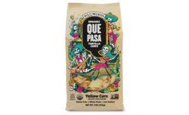 Que Pasa Day of the Dead tortilla chips limited run out now in Whole Foods