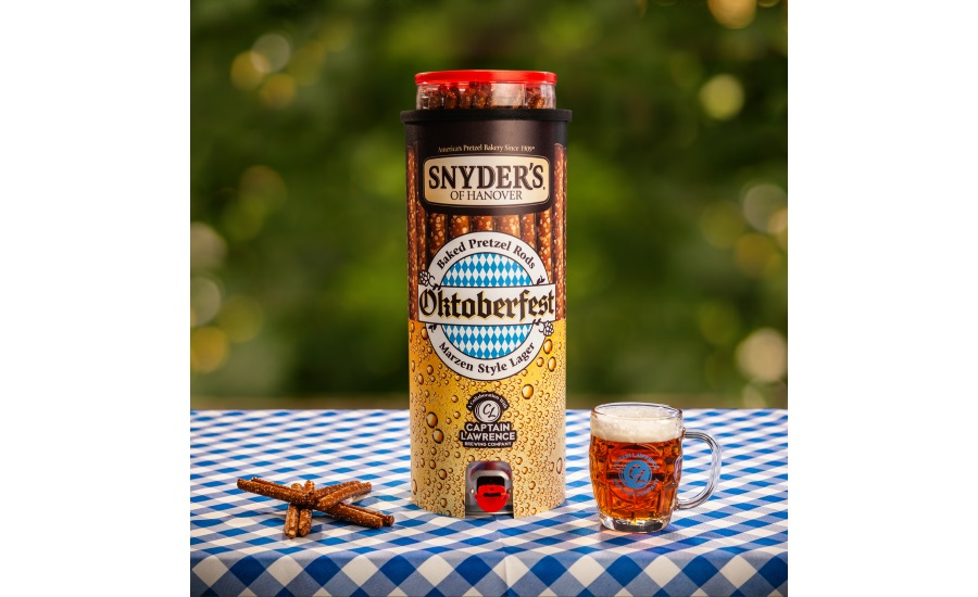 Snyders of Hanover and Captain Lawrence Brewing Co. partner to bring Oktoberfest home with first-ever custom-made Snyders pretzel keg