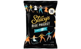 Female-founded Stacys Pita Chips adds women-owned business directory QR code to new bags