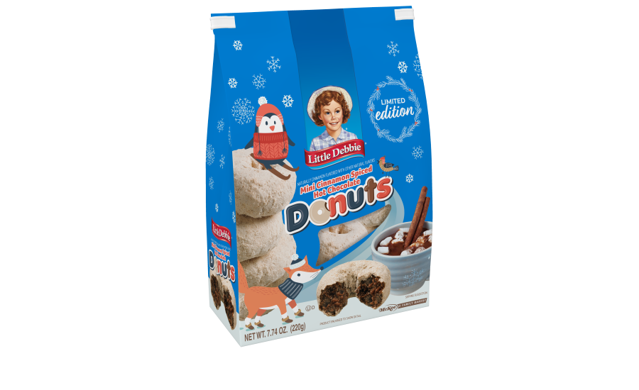 Little Debbie Cinnamon Spiced Hot Chocolate Mini Donuts