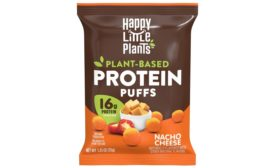 Happy Little Plants plant-based protein puffs
