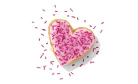 Dunkin Cupids Choice Donut and Brownie Batter Donut, for Valentines Day