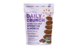 Daily Crunch Golden Goodness Sprouted Almonds, and Cacao + Sea Salt Sprouted Almonds