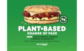 Dunkin Dunkfetti Donut and Southwest Veggie Power Breakfast Sandwich