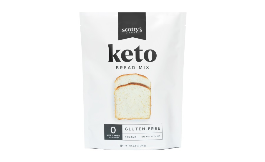 Scottys Everyday launchest first zero net carb, gluten-free, no nut flour, Keto Bread Mix