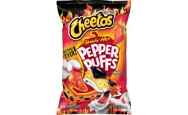 Doritos Xxtra Flamin Hot Nacho chips and Cheetos Flamin Hot Spicy Pepper Puffs