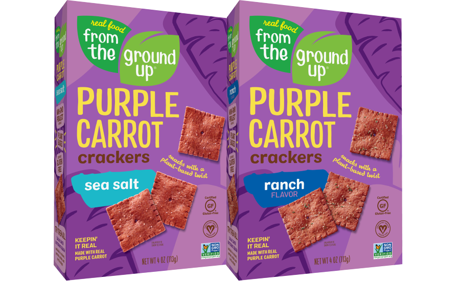 REAL FOOD FROM THE GROUND UP Purple Carrot Crackers