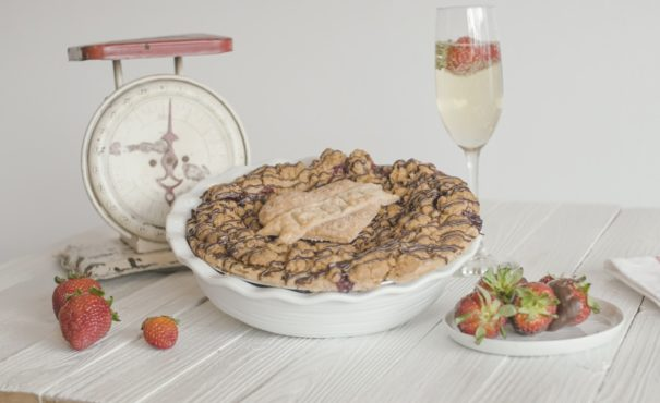 Grand Traverse Pie Company Strawberry Champagne Pie, for Mothers Day