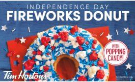 Tim Hortons Independence Day Fireworks Donut