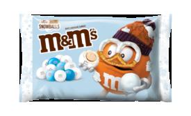M&MS White Chocolate Pretzel Snowballs