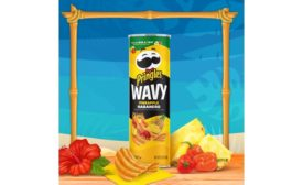 Pringles Wavy Pineapple Habanero chips