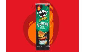Pringles Scorchin Sour Cream & Onion chips