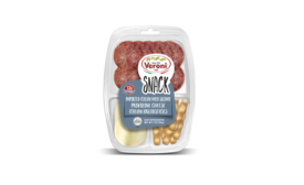 Veroni authentic Italian salami snack packs with dried fruit and breadsticks