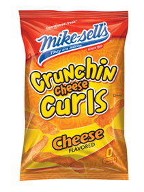 Mike sell's crunchin cheese curls