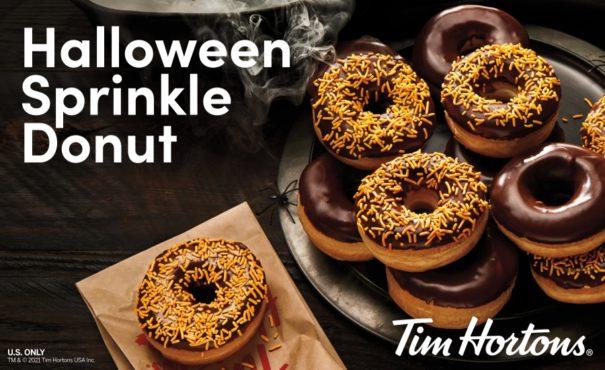 Tim Hortons Halloween Sprinkle Donut